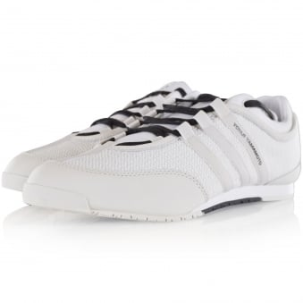 Adidas Y-3 White Mesh/Leather Boxing Trainer