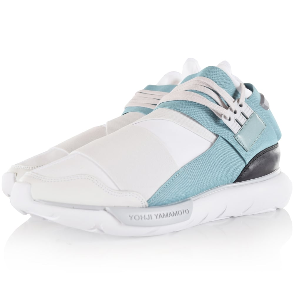 ADIDAS Y-3 Adidas Y-3 White Mint Qasa High Trainers - Men from ... ed8e6617c
