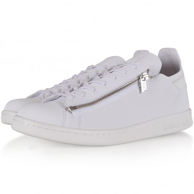 ADIDAS Y-3 White/Silver Stan Zip Trainers