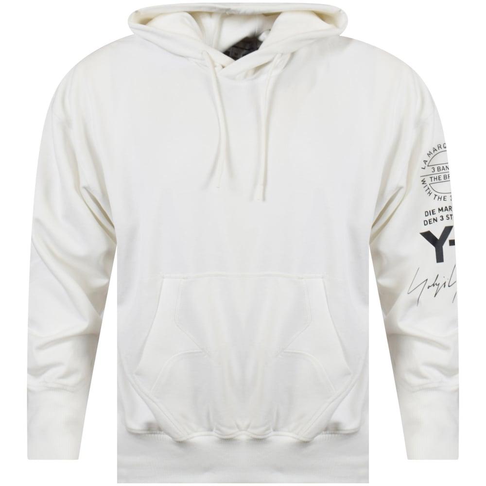 1c697c7ff996 ADIDAS Y-3 Adidas Y-3 White Sleeve Detailing Pullover Hoodie - Men ...