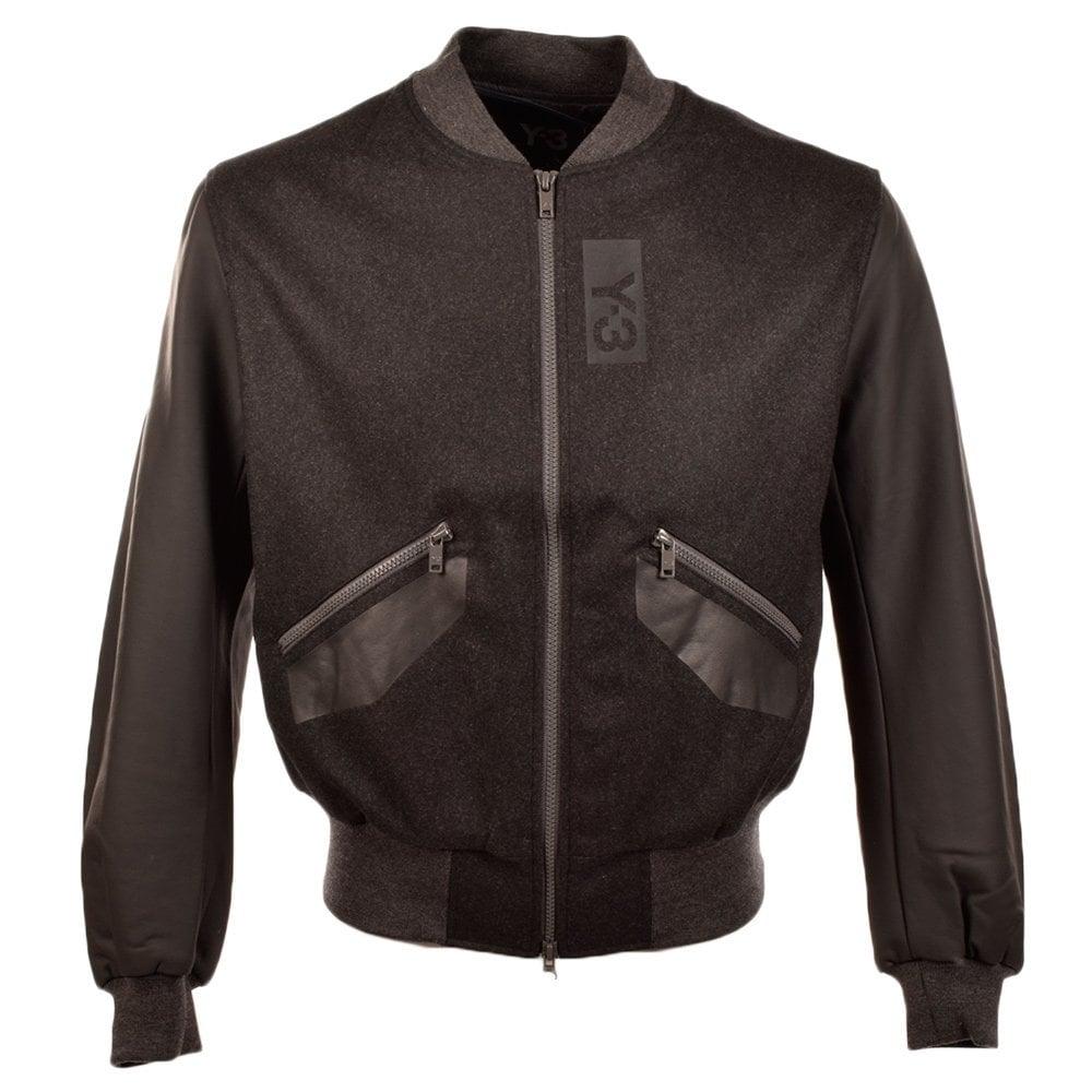 adidas y 3 y 3 grey marl bomber jacket m37991 men from