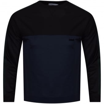 AMI Black/Navy Panelled Logo Sweatshirt