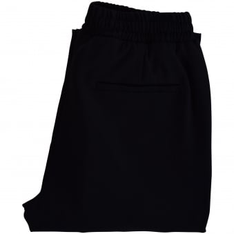 AMI Black Scrunch Waist Tapered Trousers