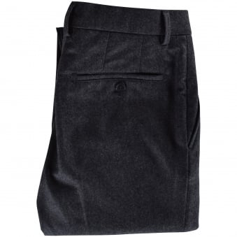 AMI Charcoal Straight Tailored Trousers