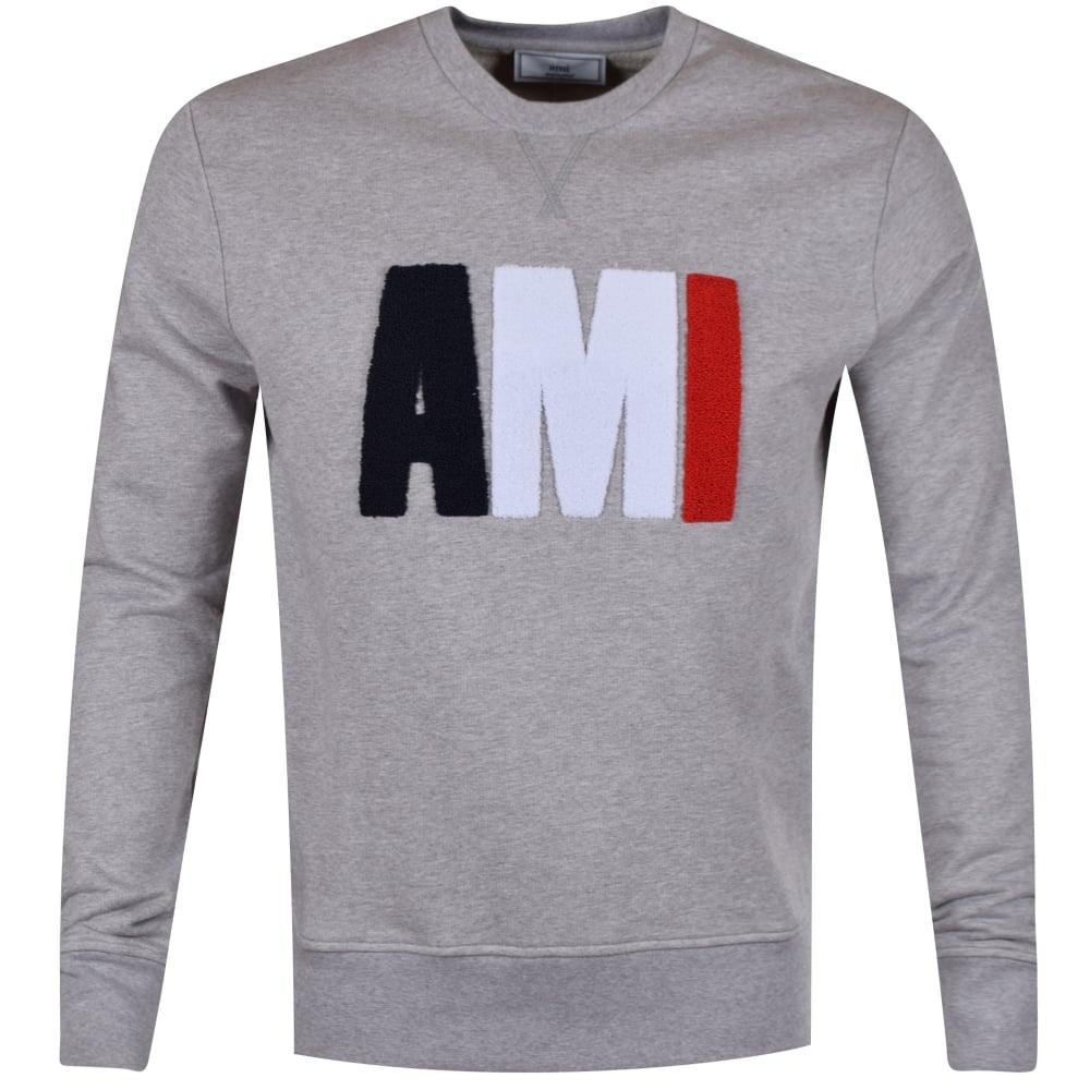 fbc7132d8 AMI PARIS AMI Grey Tricolour Toweled Logo Sweatshirt - Department ...