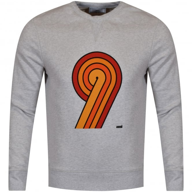 AMI PARIS AMI Large '9' Print Sweatshirt