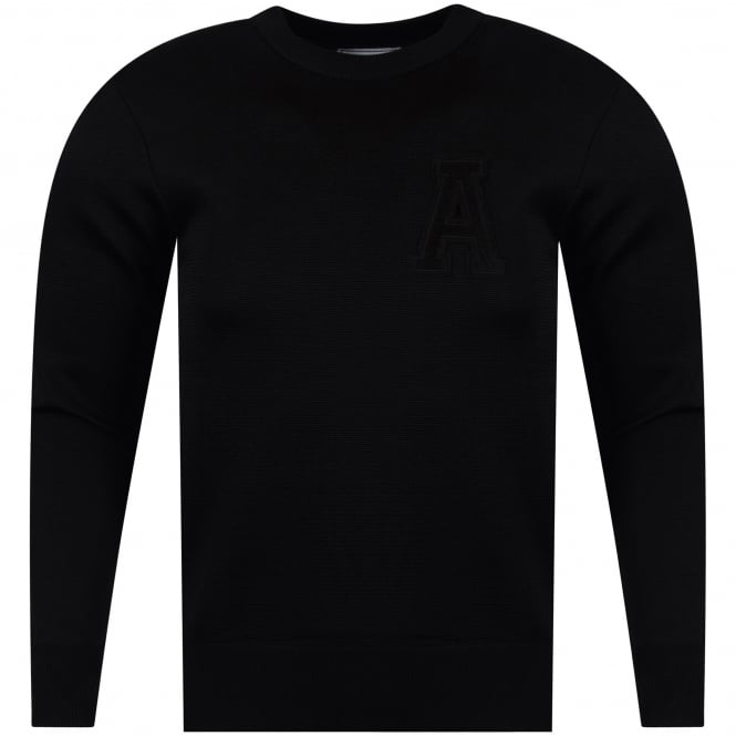 AMI PARIS Black Chest Logo Sweatshirt