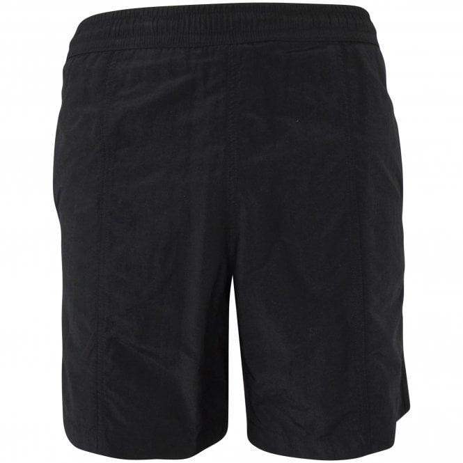 AMI PARIS Black de Coeur Swim Shorts Front