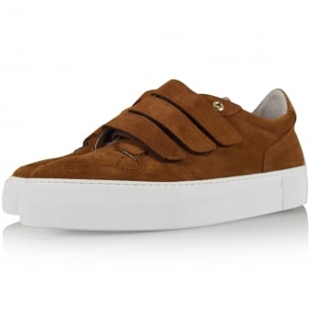 AMI Paris Brown Three Strap Trainers