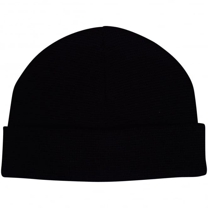 25a4a0d49f8a7 AMI PARIS AMI Paris Plain Black Coloured Beanie Hat - Men from ...
