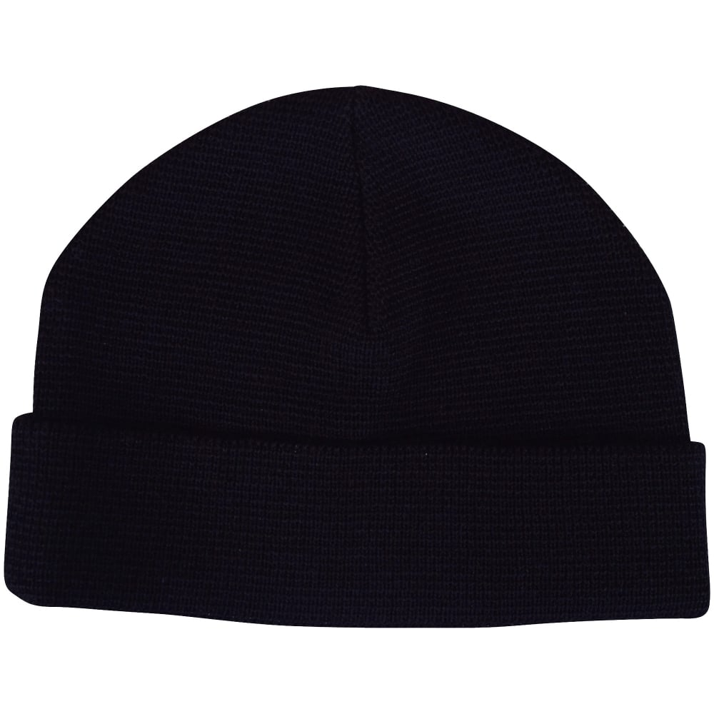 AMI PARIS AMI Paris Plain Black Coloured Beanie Hat - Men from ... faeec4ad536
