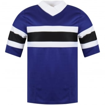 AMI Paris Purple Oversized Stripe T-Shirt