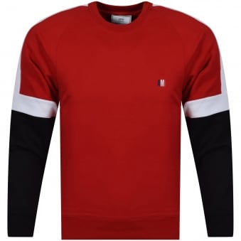 AMI Paris Red Retro Style Sportswear Jumper