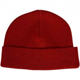 AMI Paris Red Woolen Beanie Hat