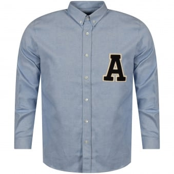 AMI Paris Sky Blue Logo Shirt