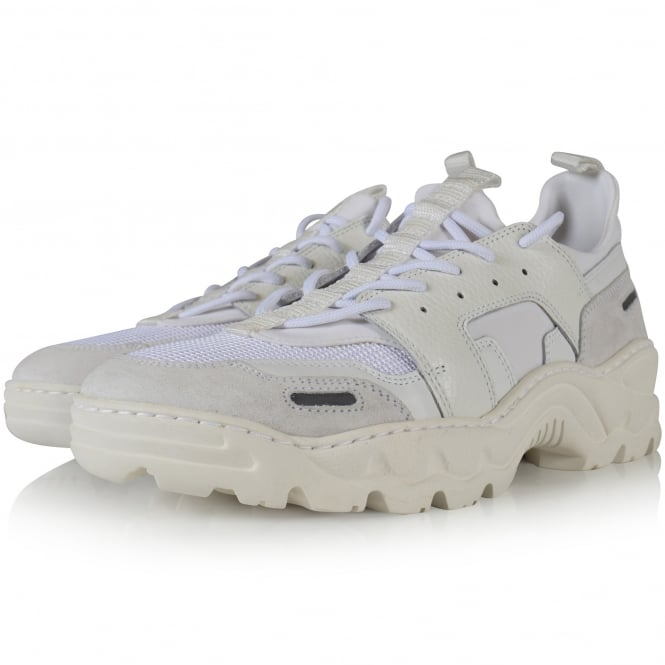 AMI PARIS White Running Neoprene Trainers