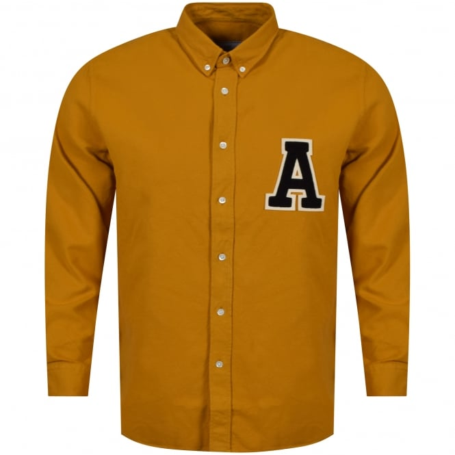 AMI PARIS Yellow 'A' Logo Shirt