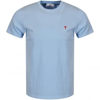 AMI Sky Blue Heart Logo T-Shirt