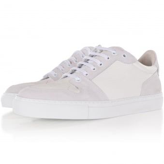 AMI White Leather Basket Trainers
