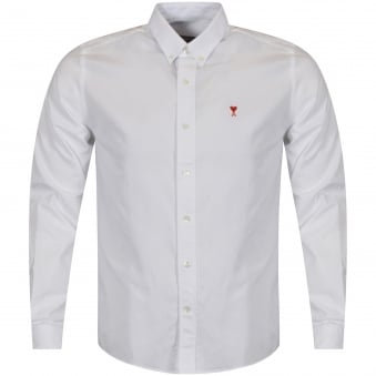 AMI White Long Sleeved Shirt