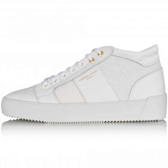 ANDROID HOMME Achromatic White Propulsion Mid Trainers Side