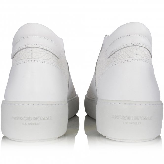 ANDROID HOMME Achromatic White Propulsion Mid Trainers Reverse