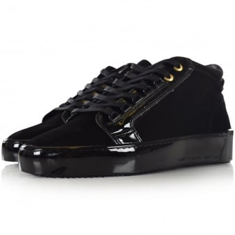 Android Homme Black Suede Mid Propulsion Trainers