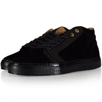 Android Homme Black Suede Propulsion Mid Trainers