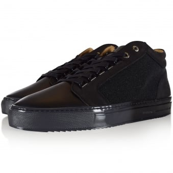 Android Homme Black Textured Trainers
