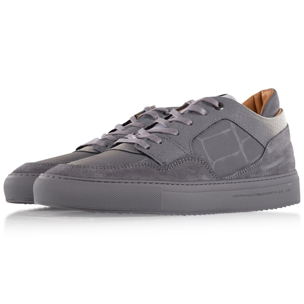 72b8e9268ad7 ANDROID HOMME Android Homme Grey Reflective Omega Low Trainers - Men ...