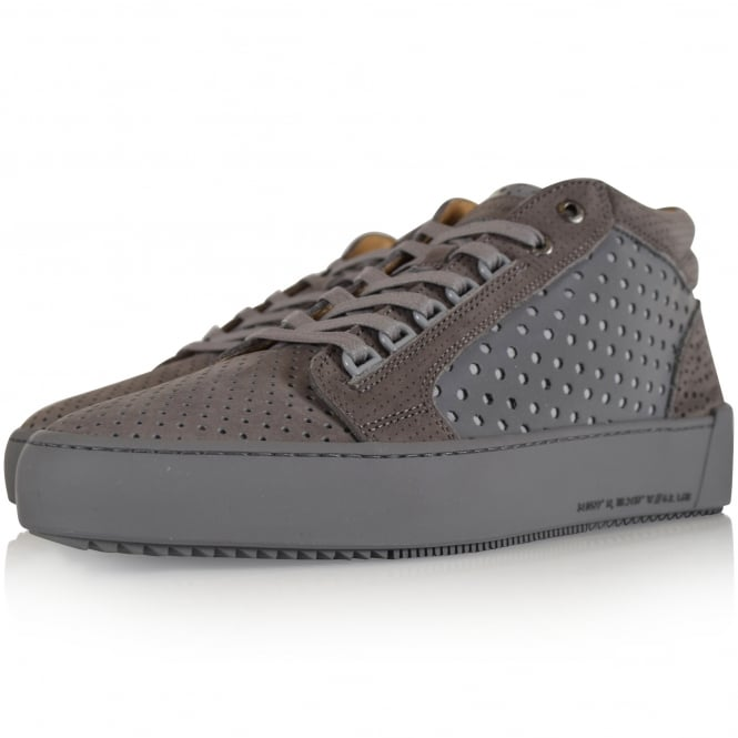 ANDROID HOMME Grey Reflective Propulsion Mid Trainers