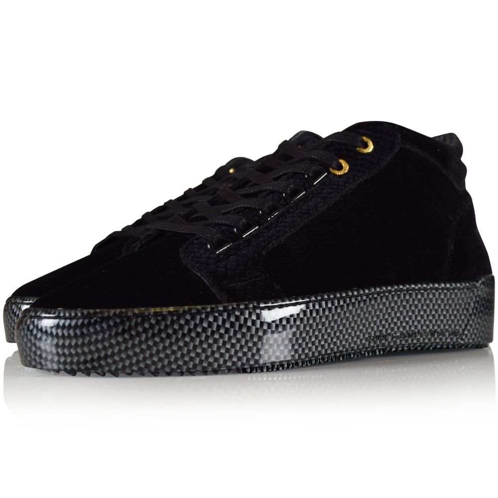 Android Homme Mid Propulsion Black Velvet Trainers