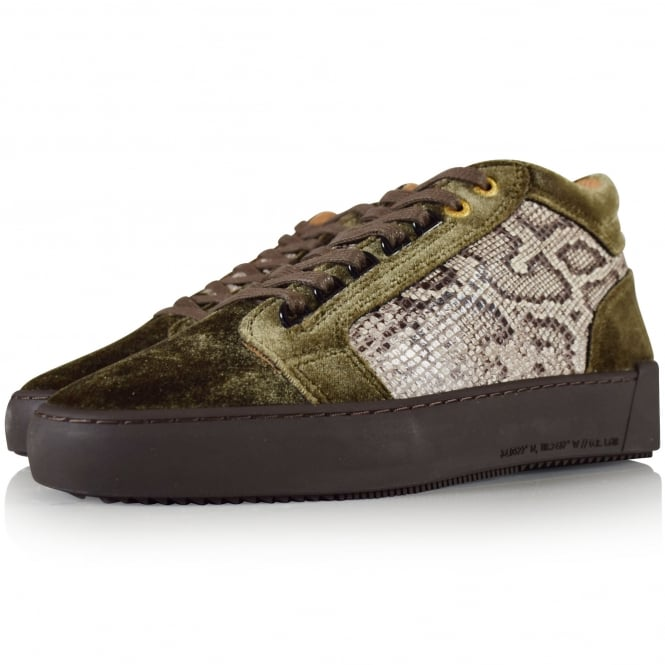 ANDROID HOMME Mid Propulsion Green/Brown Scale Trainers
