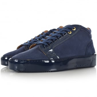 Android Homme Mid Propulsion Suede Trainers In Navy