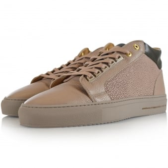 Android Homme Tan Leather Propulsion Mid Trainers