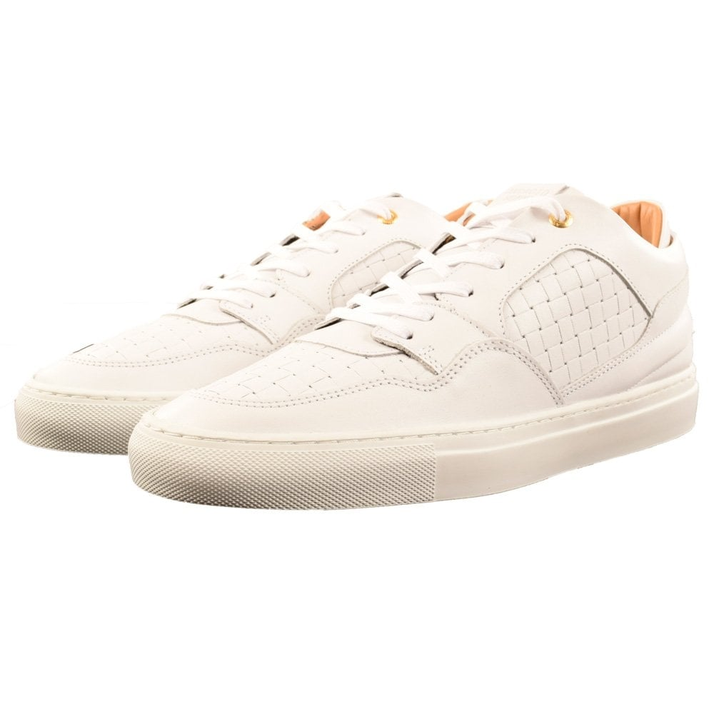 a417090524c8 ANDROID HOMME Android Homme White Leather Woven Omega Trainers - Men ...