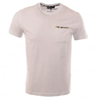 Aquascutum Brady Short Sleeve White T-Shirt