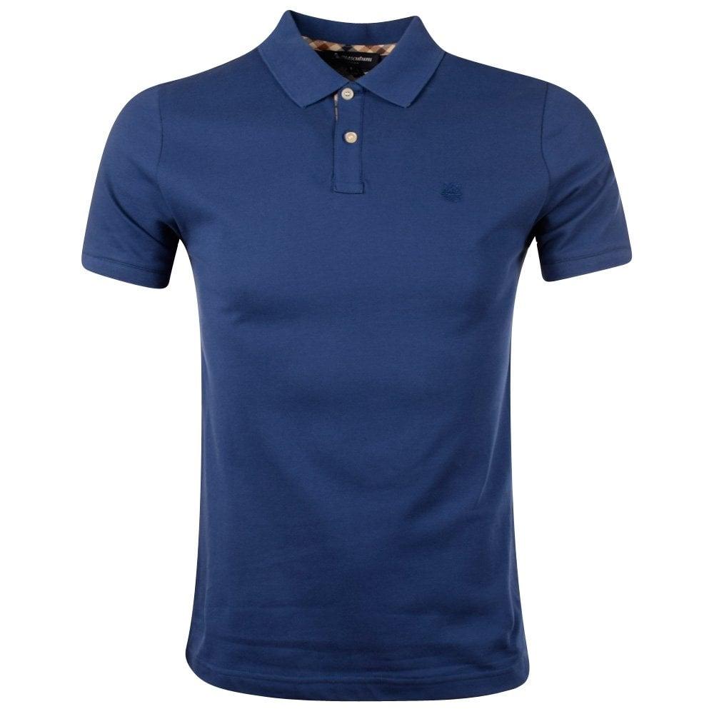 a2afd3e26 AQUASCUTUM Aquascutum Blue Hilton Polo Shirt - Department from ...