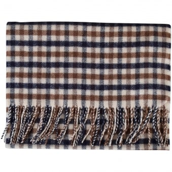 Aquascutum Checked Lambswool Vicuna Scarf