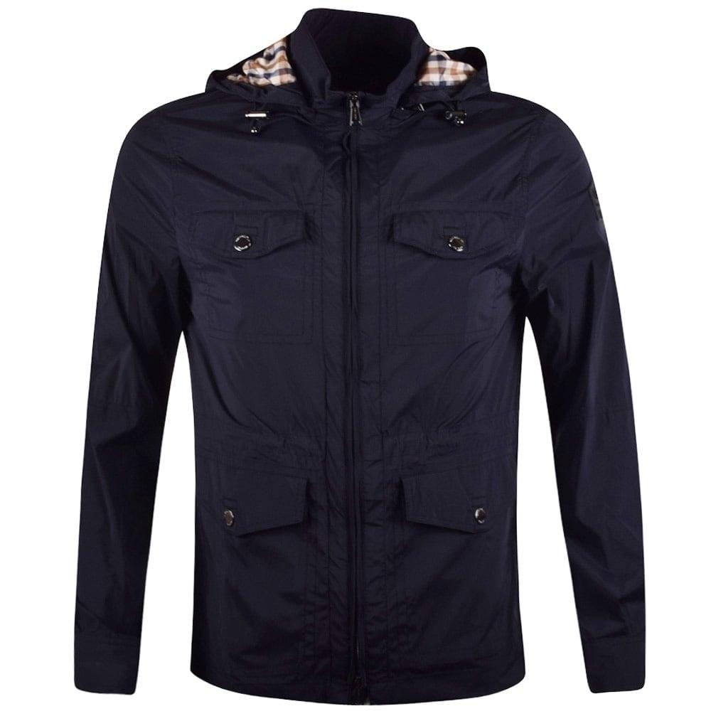 25a468c98 Navy Lightweight Hooded Jacket