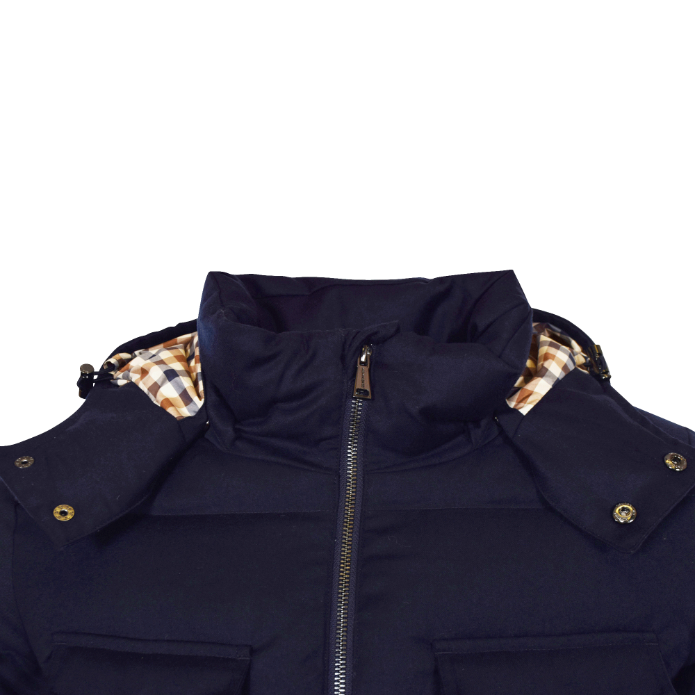 a5be1935f AQUASCUTUM Aquascutum Navy Orson Detachable Hooded Jacket