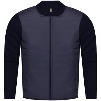 Aquascutum Navy Wise Panelled Funnel Jacket