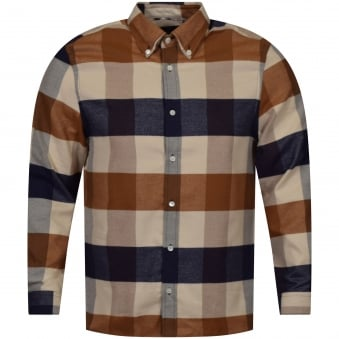 Aquascutum Rigby Long Sleeve Checked Shirt