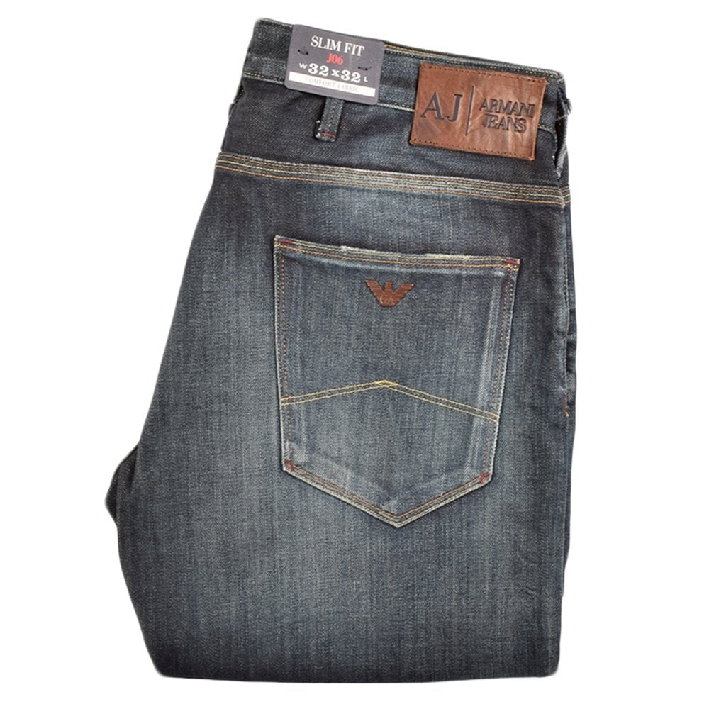 8fb26e53d9 Armani Jeans 15 JO6 Denim Wash Slim Fit Jeans