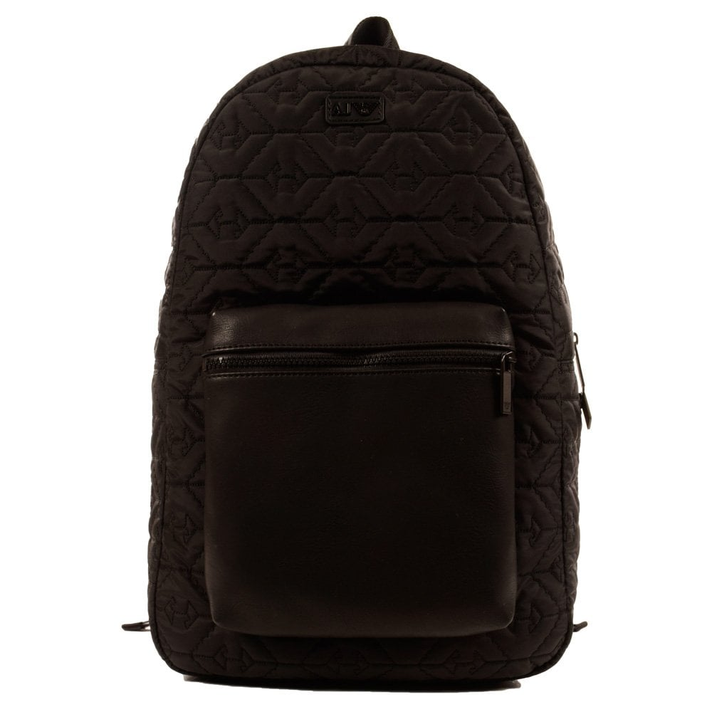 EMPORIO ARMANI Armani Jeans All Over Eagle Print Black Backpack ... bc2540f783