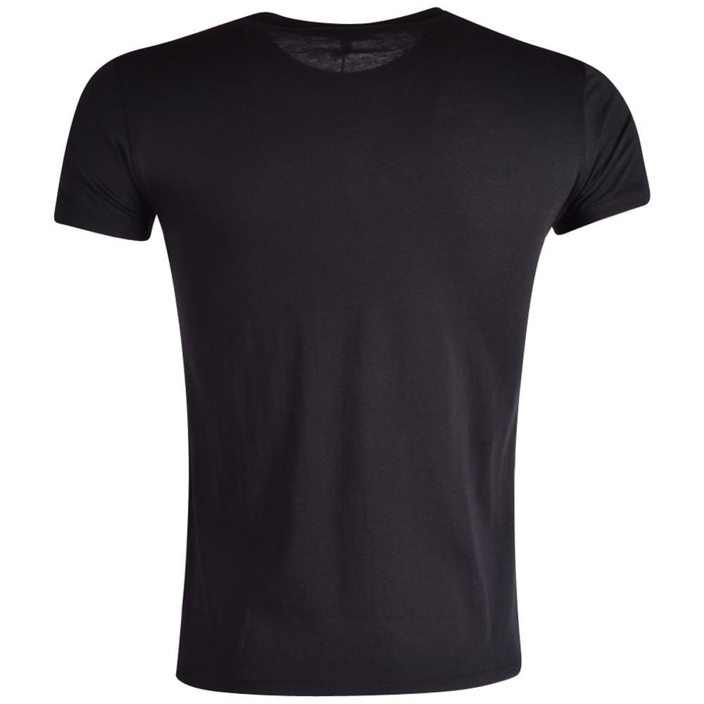 Armani jeans armani jeans black pima cotton crew neck t for Pima cotton crew neck t shirt