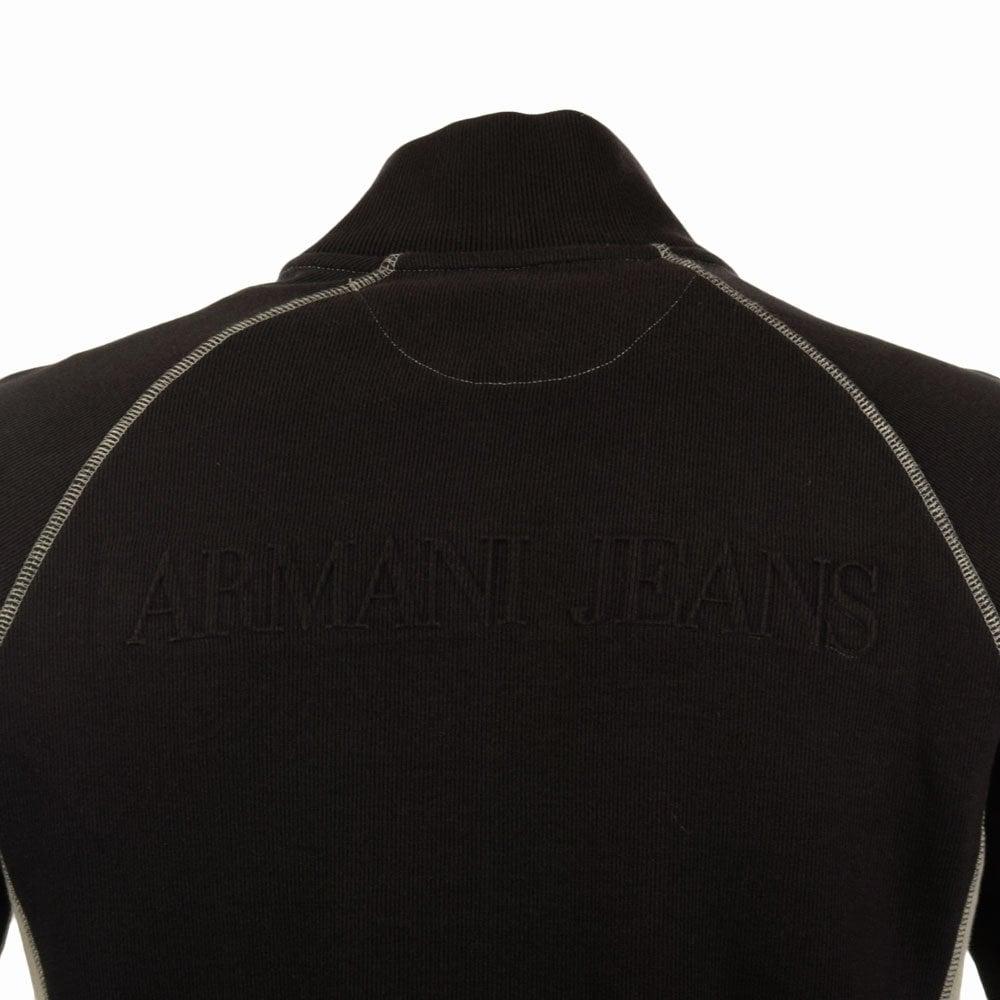Armani Jeans Armani Jeans Black Stone Rib Zip Through