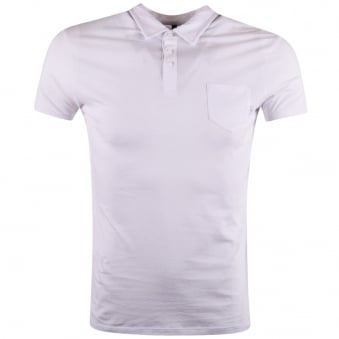 Armani Jeans White Pocket Polo Shirt
