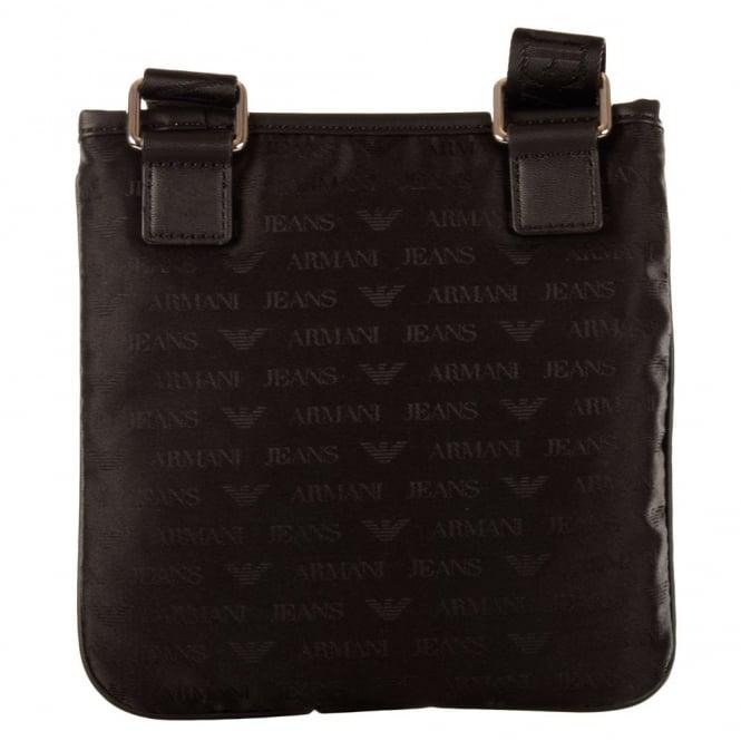 c969be0f4a18b EMPORIO ARMANI Armani Jeans Black All Over Print Cross Body Bag ...