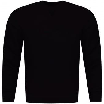 Armani Jeans Black/Black Signature Text Logo Sweatshirt